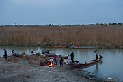 Fishermen at dawn, all quick to accuse Turkey for the lack of water, more than 30 dams have been built in Turkey significantly reducing the water flow into Iraq, ongoing discussions have failed to provide a solution.