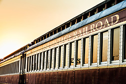 Train car at Cotton Belt Railroad Depot, Grapevine, Texas USA