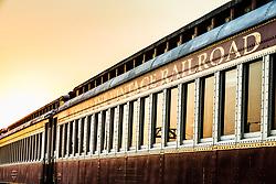 Train car at Cotton Belt Railroad Depot, Grapevine, Texas USA