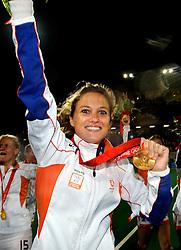 22-08-2008 HOCKEY: OLYMPISCHE SPELEN FINALE CHINA - NEDERLAND: BEIJING <br /> Nederlands dames hockey elftal Olympisch kampioen 2008 - Wieke Dijkstra<br /> ©2008-FotoHoogendoorn.nl