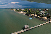 Dangriga<br /> Aerial view<br /> Belize,<br /> Central America