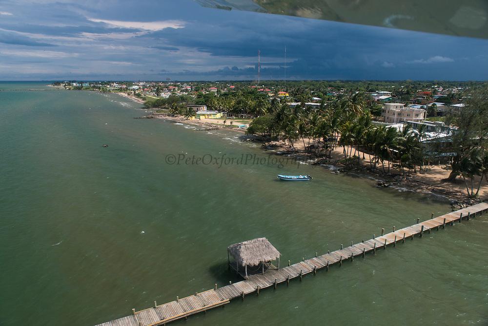 Dangriga<br /> Aerial view<br /> Belize,<br /> Central America