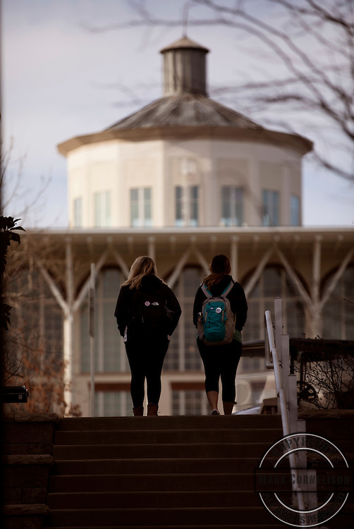 Chilly day on Campus on Wednesday February 15, 2017. Photo by Mark Cornelison   UKphoto