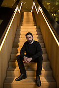 May0081426 . Daily Telegraph<br /> <br /> DT Business<br /> <br /> Mustafa Suleyman is a British entrepreneur, co-founder of artificial intelligence/machine learning company DeepMind Technologies, acquired by Google. <br /> <br /> London 12 February