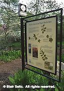 Signage, Morris Arboretum of the University of Pennsylvania, Philadelphia gardens and arboretums, Chestnut Hill, Philadelphia, PA.