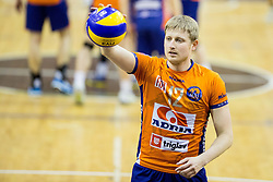 Michal Kozlowski of ACH during volleyball match between ACH Volley and OK Calcit Volleyball in 10th Round of Slovenian National Championship 2014/15, on March 11, 2015 in Arena Tivoli, Ljubljana, Slovenia. Photo by Vid Ponikvar / Sportida