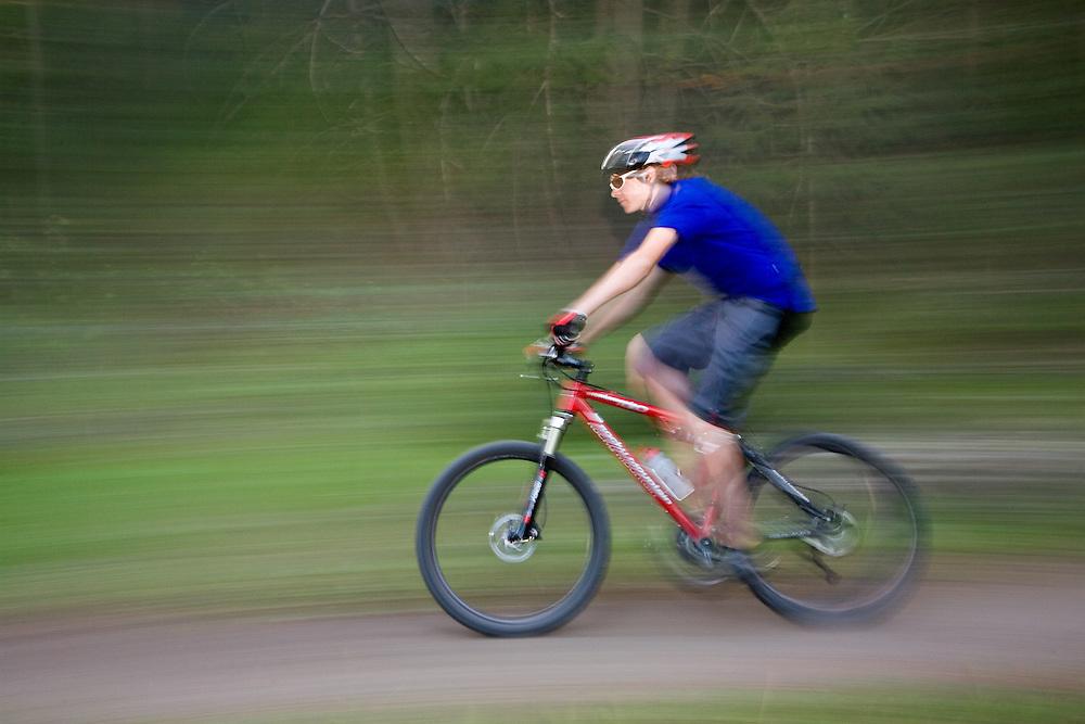 Josh flies through the Shady Side mountain biking in Sun Valley, Idaho.<br /> Minor Released