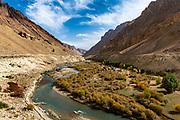 Fertile green valley in Yakawlang province, Bamyan, Afghanistan