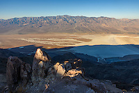 Shadows recede across Badwater Basin  as seen from Dante's View.