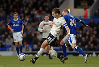 Photo: Ashley Pickering/Sportsbeat Images.<br /> Ipswich Town v Barnsley. Coca Cola Championship. 01/12/2007.<br /> Barnsley skipper Stephen Foster (L) gets away from Billy Clarke of Ipswich