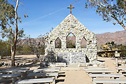 Outdoor Stone Chapel at the Desert Training Center