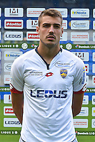 Aubin Long of Sochaux during the FC Sochaux photocall for the season 2016/2017 in Sochaux on September 20th 2016<br /> Photo : Philippe Le Brech / Icon Sport
