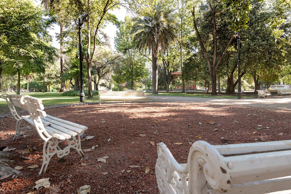 Tibet garden at O'Higgins public park in downtown Santiago, Chile