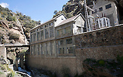HEP electricity generation River Rio Poqueira gorge valley, High Alpujarras, Sierra Nevada, Granada Province, Spain