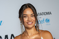 Shanina Shaik arriving at a photocall for the Unicef Summer Gala Presented by Luisaviaroma at Villa Violina on August 10, 2018 in Porto Cervo, Italy. Photo by Alessandro Tocco/ABACAPRESS.COM