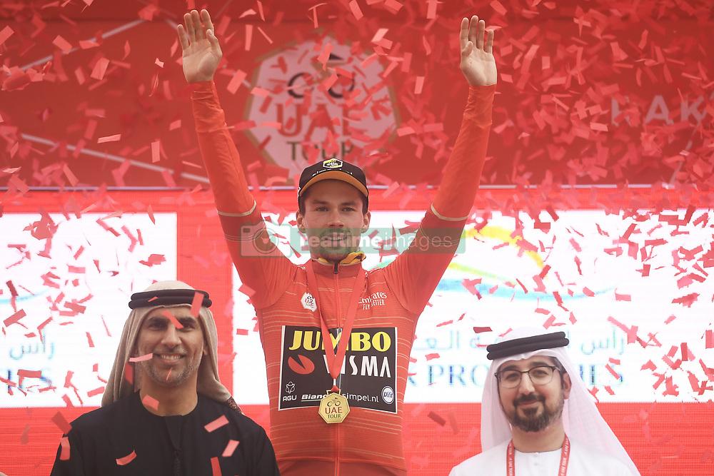 March 1, 2019 - Dubai, Emirati Arabi Uniti - Foto LaPresse - Fabio Ferrari.01 Marzo 2019 Dubai (Emirati Arabi Uniti).Sport Ciclismo.UAE Tour 2019 - Tappa 6 - da Ajman a Jebel Jais - 180 km.Nella foto: ROGLIC Primoz(SLO)TEAM JUMBO - VISMA. maglia rossa..Photo LaPresse - Fabio Ferrari.March 01, 2019 Dubai (United Arab Emirates) .Sport Cycling.UAE Tour 2019 - Stage 6 - From Ajman To Jebel Jais  - 112 miles..In the pic: during the race.ROGLIC Primoz(SLO)TEAM JUMBO - VISMA red jersey (Credit Image: © Fabio Ferrari/Lapresse via ZUMA Press)