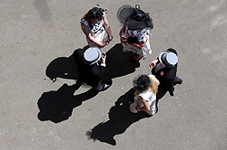 Racegoers during day four of Royal Ascot at Ascot Racecourse