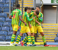 West Bromwich Albion players celebrate their opening goal<br /> <br /> Photographer Dave Howarth/CameraSport<br /> <br /> The EFL Sky Bet Championship - Blackburn Rovers v West Bromwich Albion - Saturday 11th July 2020 - Ewood Park - Blackburn <br /> <br /> World Copyright © 2020 CameraSport. All rights reserved. 43 Linden Ave. Countesthorpe. Leicester. England. LE8 5PG - Tel: +44 (0) 116 277 4147 - admin@camerasport.com - www.camerasport.com