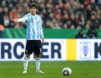 Fotball<br /> Tyskland v Argentina<br /> 03.03.2010<br /> Foto: Witters/Digitalsport<br /> NORWAY ONLY<br /> <br /> Lionel Messi Argentinien<br /> Testspiel Deutschland - Argentinien