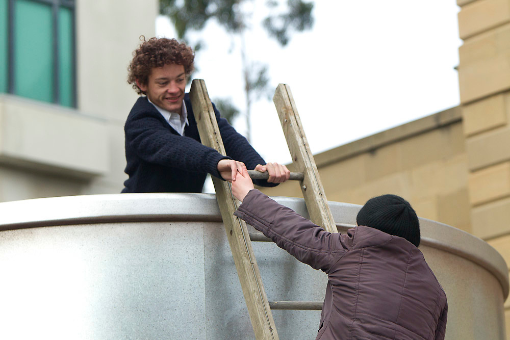 Geelong, Australia, 6th August 2010: Brave & Jungle Boys Productions  shoot scenes at Old Customs House in Geelong for a TVC  as part of a campaign for Landcare Australia..Photo: Joseph Feil
