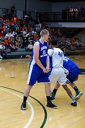 29 June 2013:  51-Trevor Seibring, 44-Jaylon Tate.  2013 Boys Illinois Basketball Coaches Association All Start game at the Shirk Center in Bloomington IL