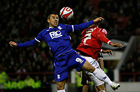 Photo: Richard Lane/Richard Lane Photography. Nottingham Forest v Birmingham City. Coca Cola Championship. 08/11/2008. Kevin Phillips (L) tries to win the ball from Kelvin Wilson (R)