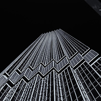 """""""IDS Tower Framed"""" 2 mono<br /> <br /> Beautiful angled image of the IDS Tower in a high contrasting monochrome!<br /> <br /> Cities and Skyscrapers by Rachel Cohen"""