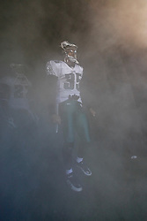 Philadelphia Eagles cornerback Macho Harris #35 prepares to enter the field before the NFL game between the Tampa Bay Buccaneers and the Philadelphia Eagles on October 11th 2009. The Eagles won 33-14 at Lincoln Financial Field in Philadelphia, Pennsylvania. (Photo By Brian Garfinkel)