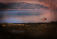 Lobster and Crab Fishing Boat. Loch Scidain, Isle Of Mull, Scotland.