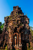 My Son is a cluster of abandoned and partially ruined Hindu temples constructed between the 4th and the 14th century AD by the kings of Champa (Chiêm Thành in Vietnamese). The temples are dedicated to the worship of the god Shiva, known under various local names, the most important of which is Bhadreshvara.
