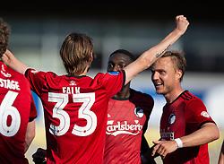Rasmus Falk (FC København) jubler efter scoringen til 0-1 under kampen i 3F Superligaen mellem Lyngby Boldklub og FC København den 1. juni 2020 på Lyngby Stadion (Foto: Claus Birch).