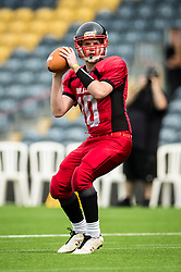 East Kilbride Pirates quarter back - Mandatory by-line: Jason Brown/JMP - 27/08/2016 - AMERICAN FOOTBALL - Sixways Stadium - Worcester, England - Kent Exiles v East Kilbride Pirates - BAFA Britbowl Finals Day