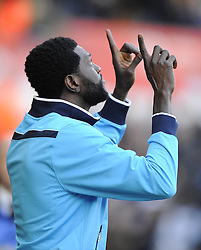 Tottenham Hotspur's Emmanuel Adebayor - Photo mandatory by-line: Joe Meredith/JMP - Tel: Mobile: 07966 386802 19/01/2014 - SPORT - FOOTBALL - Liberty Stadium - Swansea - Swansea City v Tottenham Hotspur - Barclays Premier League