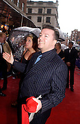 Ricky gervais, 50th Annual Bafta television awards, Grosvenor House. London. 18 April 2004. ONE TIME USE ONLY - DO NOT ARCHIVE  © Copyright Photograph by Dafydd Jones 66 Stockwell Park Rd. London SW9 0DA Tel 020 7733 0108 www.dafjones.com