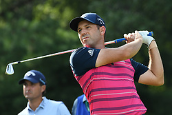 August 9, 2018 - St. Louis, Missouri, United States - Sergio Garcia tees off during the first round of the 100th PGA Championship at Bellerive Country Club. (Credit Image: © Debby Wong via ZUMA Wire)