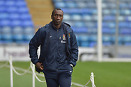Northampton Town manager, Jimmy Floyd Hasselbaink arrives at Fratton Park during the EFL Sky Bet League 1 match between Portsmouth and Northampton Town at Fratton Park, Portsmouth, England on 30 December 2017. Photo by Adam Rivers.
