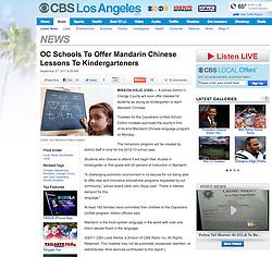 Tearsheet from CBS website