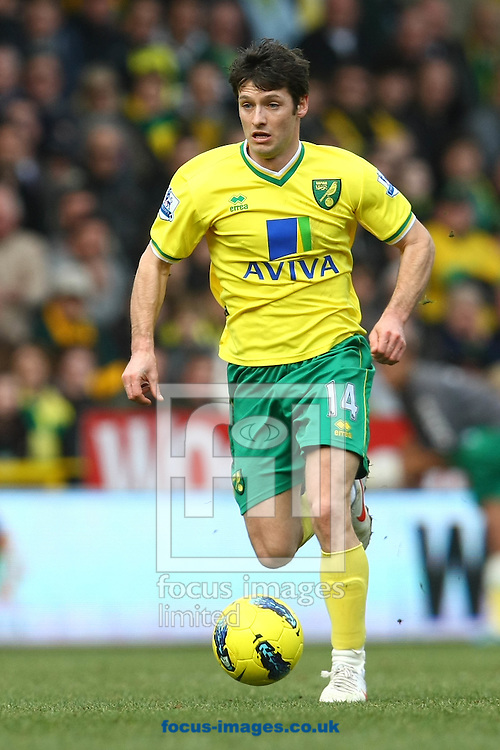 Picture by Paul Chesterton/Focus Images Ltd.  07904 640267.26/02/12.Wes Hoolahan of Norwich in action during the Barclays Premier League match at Carrow Road Stadium, Norwich.
