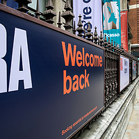 Royal Academy gallery, Piccadilly;<br />Galleries in lockdown;<br />West End Theatreland, London, UK;<br />7th July 2020.<br /><br />© Pete Jones<br />pete@pjproductions.co.uk