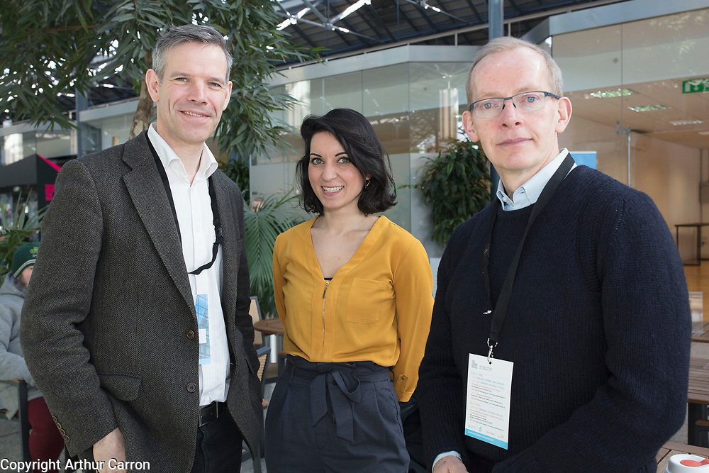 NO FEE PICTURES                                                                                                                                                2/4/19 Chris Garde, DCC, Taja  Naidoo,  Smart Docklands and Philip Jackson, Scott Tallon Walker at the Housing For All seminar at the Vienna Model of Housing exhibition at CHQ in Dublin. Picture:Arthur Carron