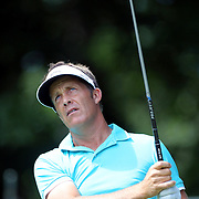 Stuart Appleby, Australia, in action during the third round of the Travelers Championship at the TPC River Highlands, Cromwell, Connecticut, USA. 21st June 2014. Photo Tim Clayton
