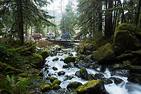 Van camping, Olympic Peninsula, Washington.