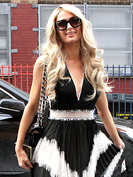 Paris Hilton attends the Alice + Olivia By Stacey Bendet presentation during New York Fashion Week 2019 - February 11, 2019. 11 Feb 2019 Pictured: Paris Hilton. Photo credit: TPI/MEGA TheMegaAgency.com +1 888 505 6342