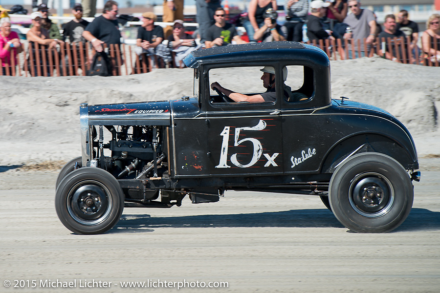 Paul Kisarewich's 1930 Ford Model A at the Race of Gentlemen. Wildwood, NJ, USA. October 11, 2015.  Photography ©2015 Michael Lichter.