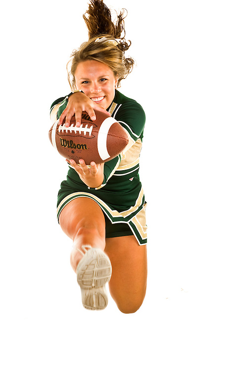 (staff photo by Matt Roth).Thursday, August 20, 2009..Century senior cheerleader Mauriana Veltre.