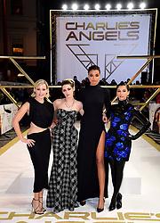 Elizabeth Banks, Kristen Stewart, Ella Balinska and Naomi Scott (left-right) attending the Charlie's Angels UK Premiere at the Curzon Mayfair, London.