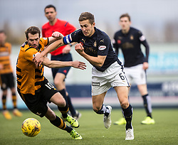 Alloa Athletic's Graeme Holmes and Falkirk's Will Vaulks. <br /> Falkirk 5 v 0 Alloa Athletic, Scottish Championship game played at The Falkirk Stadium.