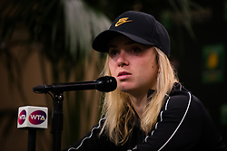 March 15, 2019 - Indian Wells, USA - Elina Svitolina of the Ukraine talks to the media after her semi-final at the 2019 BNP Paribas Open WTA Premier Mandatory tennis tournament (Credit Image: © AFP7 via ZUMA Wire)