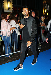 Sergio Aguero arriving for the All or Nothing: Manchester City, world premiere at Vue Printworks, Manchester.