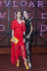 Yasmin Parvaneh Le Bon and her daugther Amber Le Bon attend the Bvgalri Gala Dinner held at the Stadio dei Marmi in Rome, Italy on June 28, 2018. Photo by Marco Piovanotto/ABACAPRESS.COM